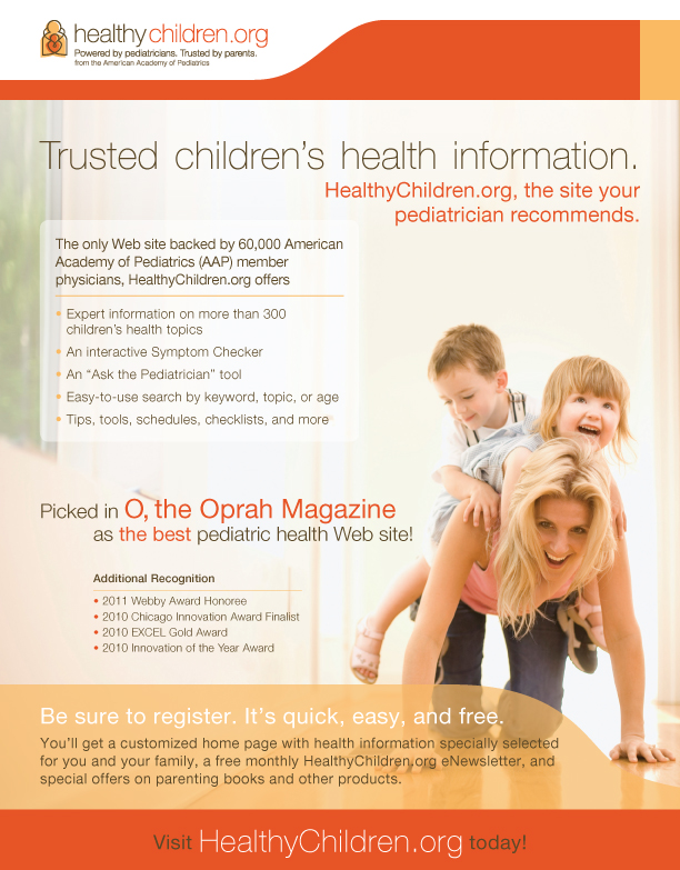HealthyChildren.org Pad of 100 Flyers - HealthyChildren.