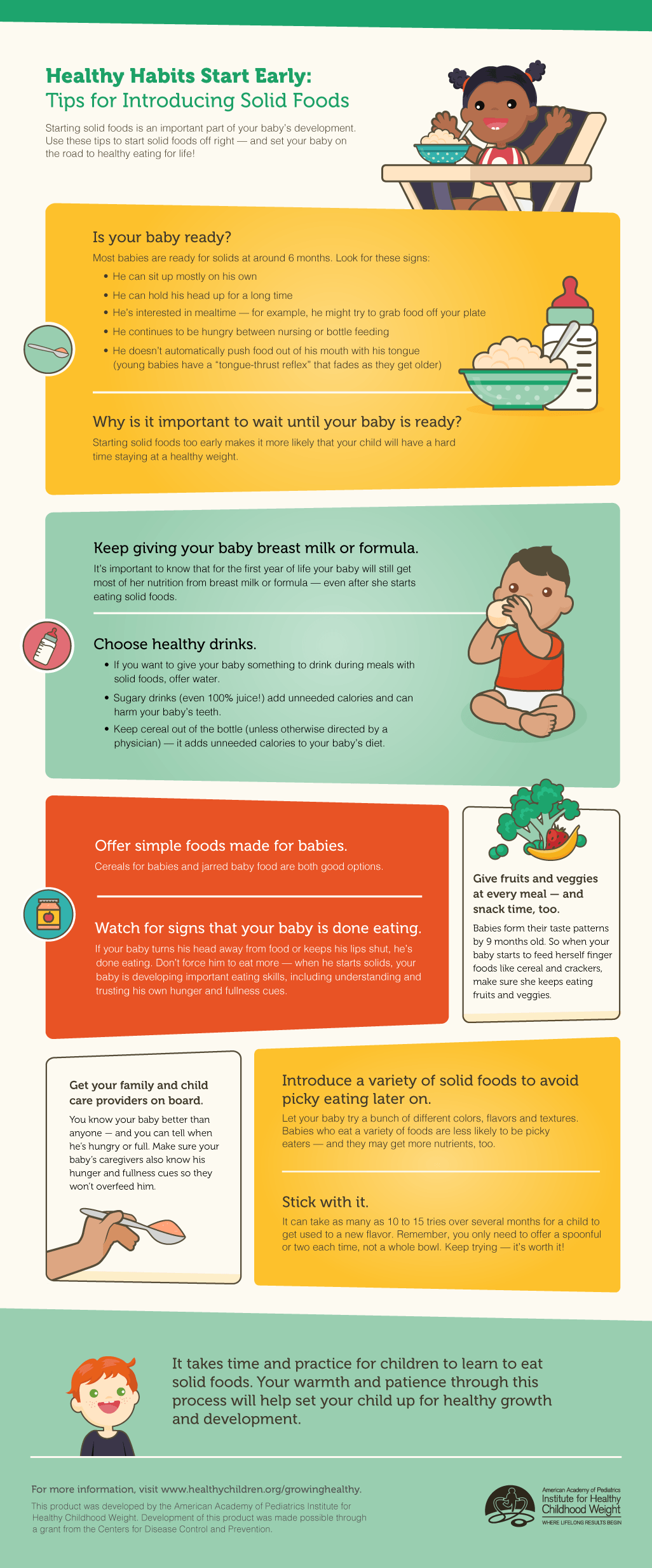 Infographic tips for starting solid foods