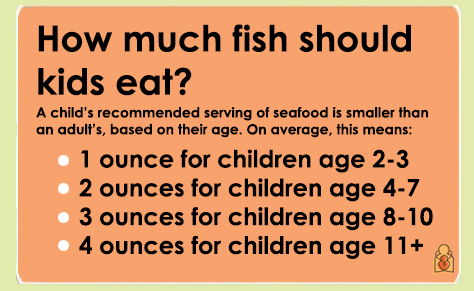 How much fish should kids eat? AAP recs