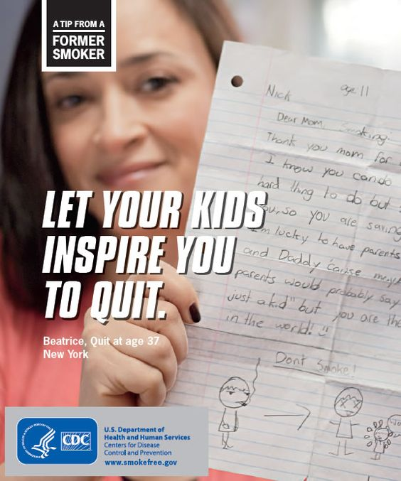 Let your kids inspire you to quit - CDC graphic