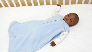 baby boy sleeping crib