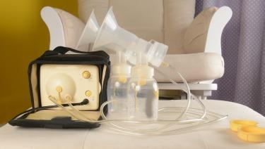 Furniture breast milk in a bottle