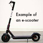 Example of an e-scooter