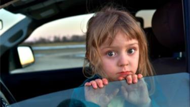 homeless girl in car
