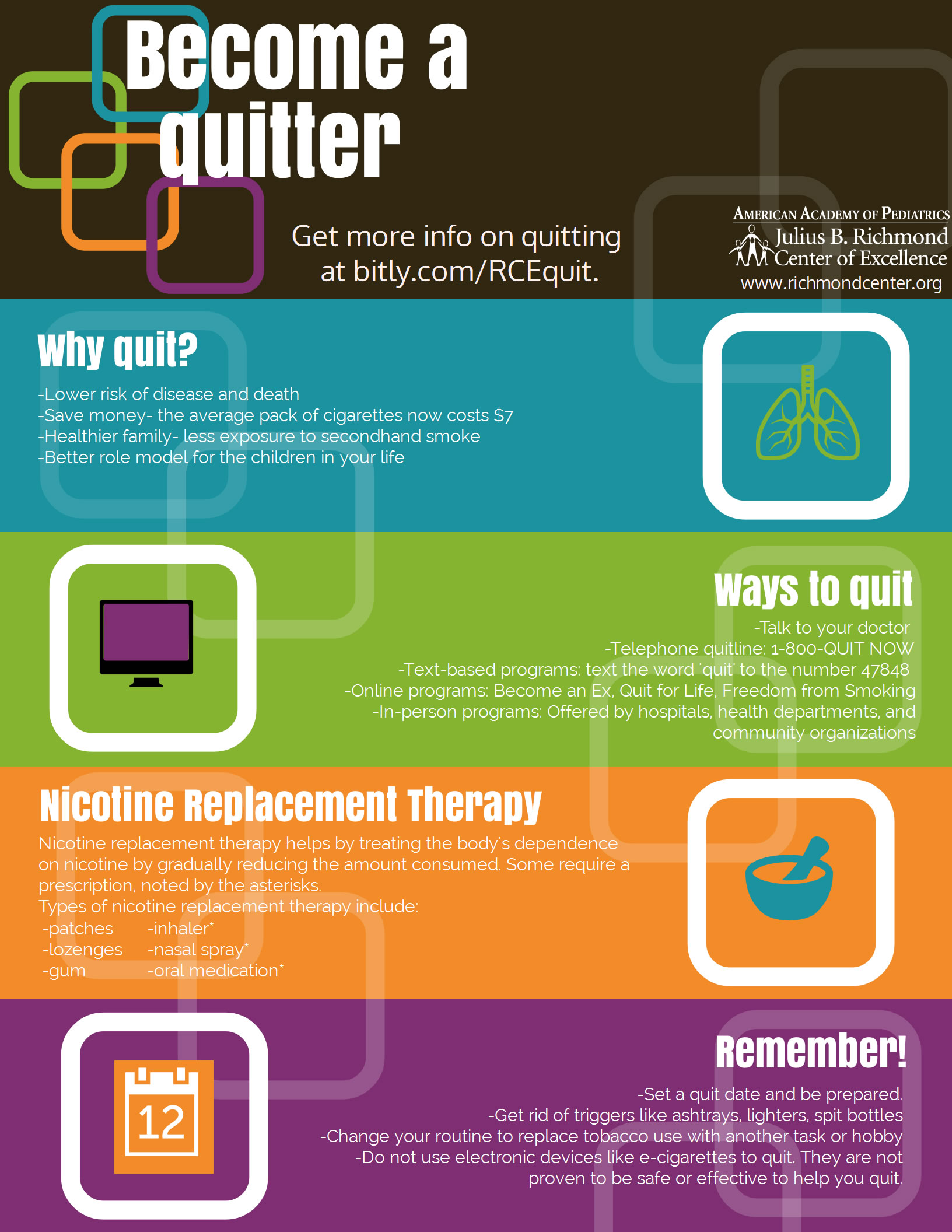 Become a Quitter - AAP Infographic