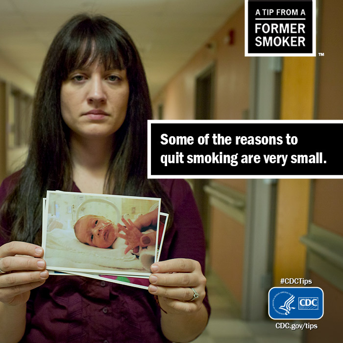 Some of the reasons to quit smoking are very small - CDC
